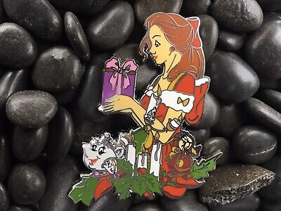Christmas Belle Beauty And The Beast Disney Fantasy Pin ()