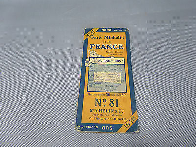 Card Michelin No 81 Avignon/Worthy 1924/Collector Bibendum Antique and Vintage
