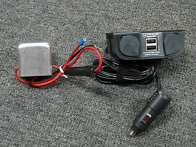 12 volt Dual USB Cigarette Plug for GPS & Cell Phone Charging for 6 volt vehicle