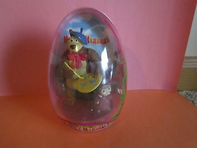 LARGE MASHA AND THE BEAR PLASTIC SURPRISE EGG  WITH TOY&CANDY - Large Surprise Eggs