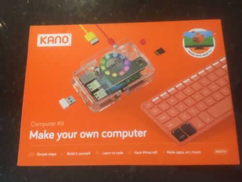 Kano Computer Kit Complete Make Your Own Laptop COMPLETE WITH MANUAL - USED