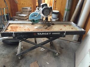 """Commercial grade  target Wet saw 10"""" blade portable"""