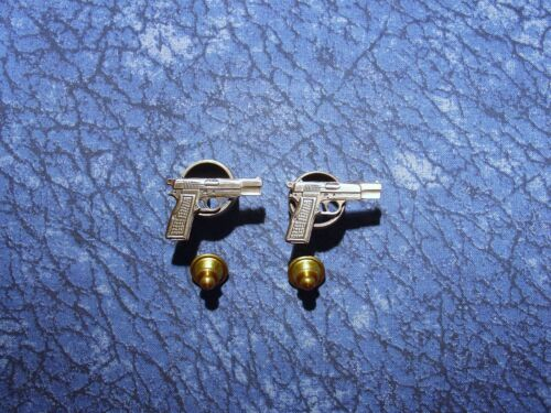 2 ~ 9MM Hand Gun Pistol Firearms Lapel/Hat Pin Tie Tacks