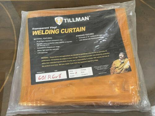 NEW Tillman 601R 6' x 8' Welding Curtain Grommets all Sides 6x8 ft Yellow/Orange