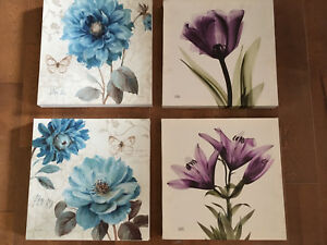 Four Flower painting