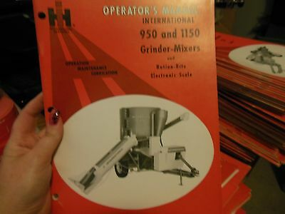International Operators Manual 950 1150 Grinder-mixers Ration-rite Scale New