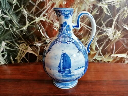 Porceleyne Fles Delft, Beautiful Mug 9 3/8in With Schiffsdekor