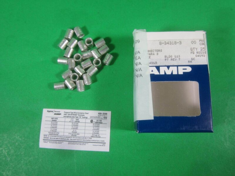 Tyco Electronics -- 8-34318-3 -- (Lot of 25) New
