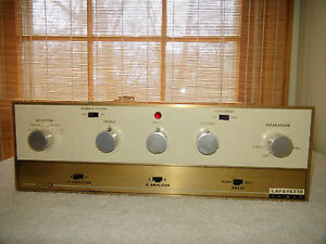 Vintage Lafayette LA-240 Stereo Integrated Tube Amplifier For Parts or Repair