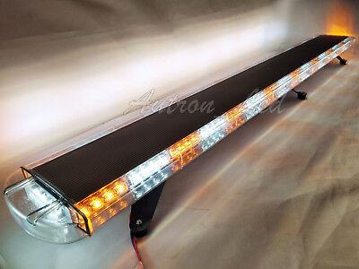 72 136w Led Amberwhite Emergency Security Warn Beacon Flash Roof Top Light Bar