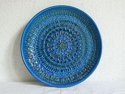 BITOSSI RIMINI BLUE XL WANDTELLER TELLER ALDO LONDI ITALY ART POTTERY WALL PLATE