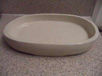 Beige Crackle Finish - Beige Ceramic Oval Dish - Oval - Crackle Finish - Spa Dish Soaps - Bath Products