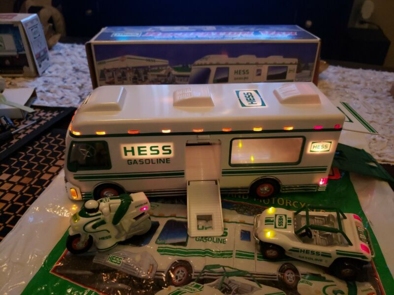1998 HESS TRUCK RECREATION VAN DUNE BUGGY CYCLE TESTED WITH SHOPPING BAG ⛽ 🚌