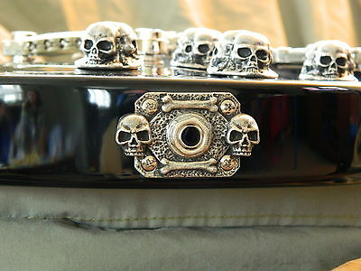 SKULL JACK COVER fit bc rich MOCKINGBIRD GUITAR rectangle metal plate HAND MADE!