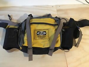 Outdoor sports waist pack holds gear and two water bottles
