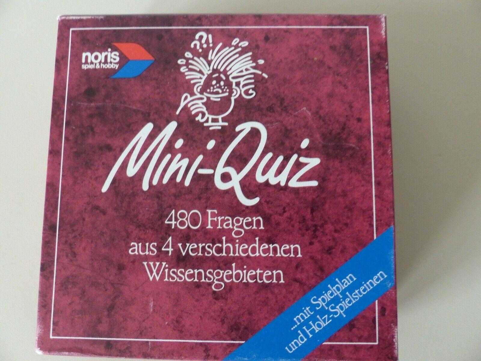 Mini-Quiz, Noris spiel&hobby, Reisespiel für 2-12 Pers. ab 12 Jahre/ Erwachsene