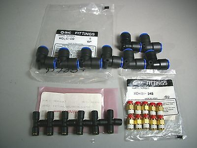 Smc Pneumatics One Touch Fitting Assortment Lot - New