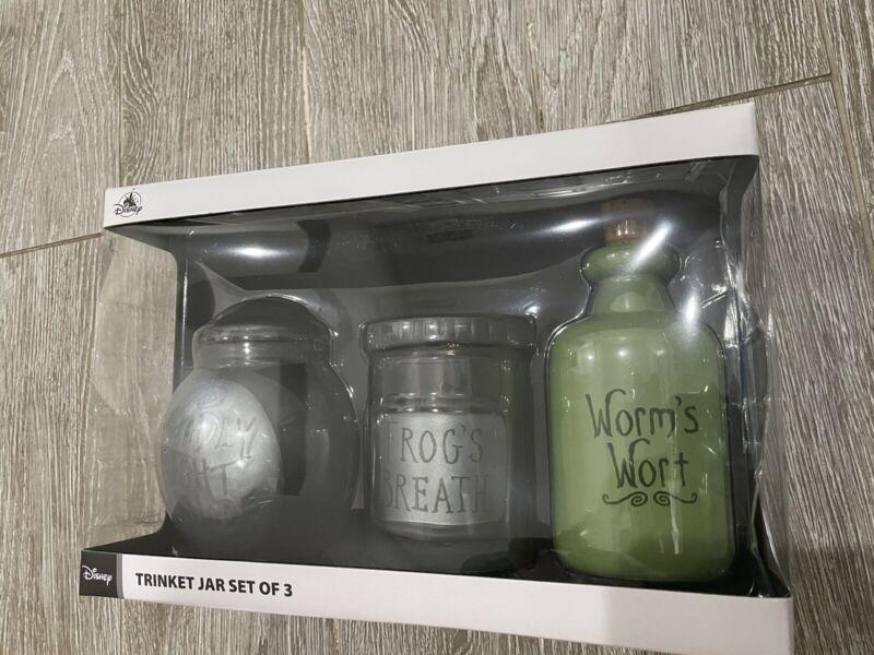 2021 Disney Parks The Nightmare Before Christmas Trinket Jar Set New In Box