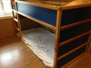 Blue IKEA Kura Bed