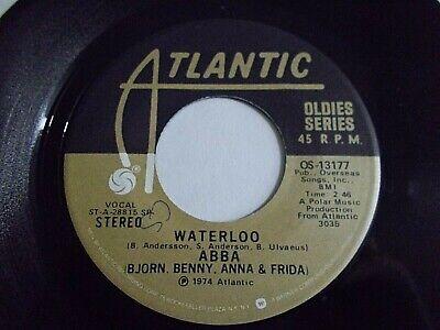 ABBA Waterloo / Honey Honey 45 Atlantic Oldies Series Vinyl Record