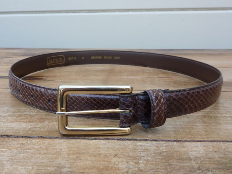 Women's Genuine Snakeskin Belt / The Ritz Accessory Collection / Size S (27)