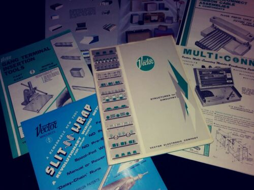 Vintage Vector Electronic Catalog & Brochures 100+ Pages Circuitry Glendale CA