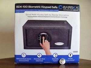 Barska Biometric Fingerprint Keypad Safe BDK-100 Motorized Dead Bolts AX12888