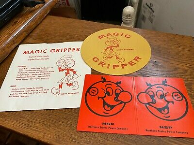 VINTAGE REDDY KILOWATT MAGIC GRIPPER IN ORIGINAL ENVELOPE PLUS CAR AERIAL MARKER