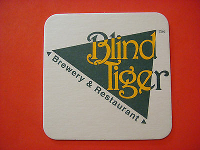 Beer Collectible Coaster ~*~ BLIND TIGER Brewing Co ~*~ Topeka, Kansas Brewery