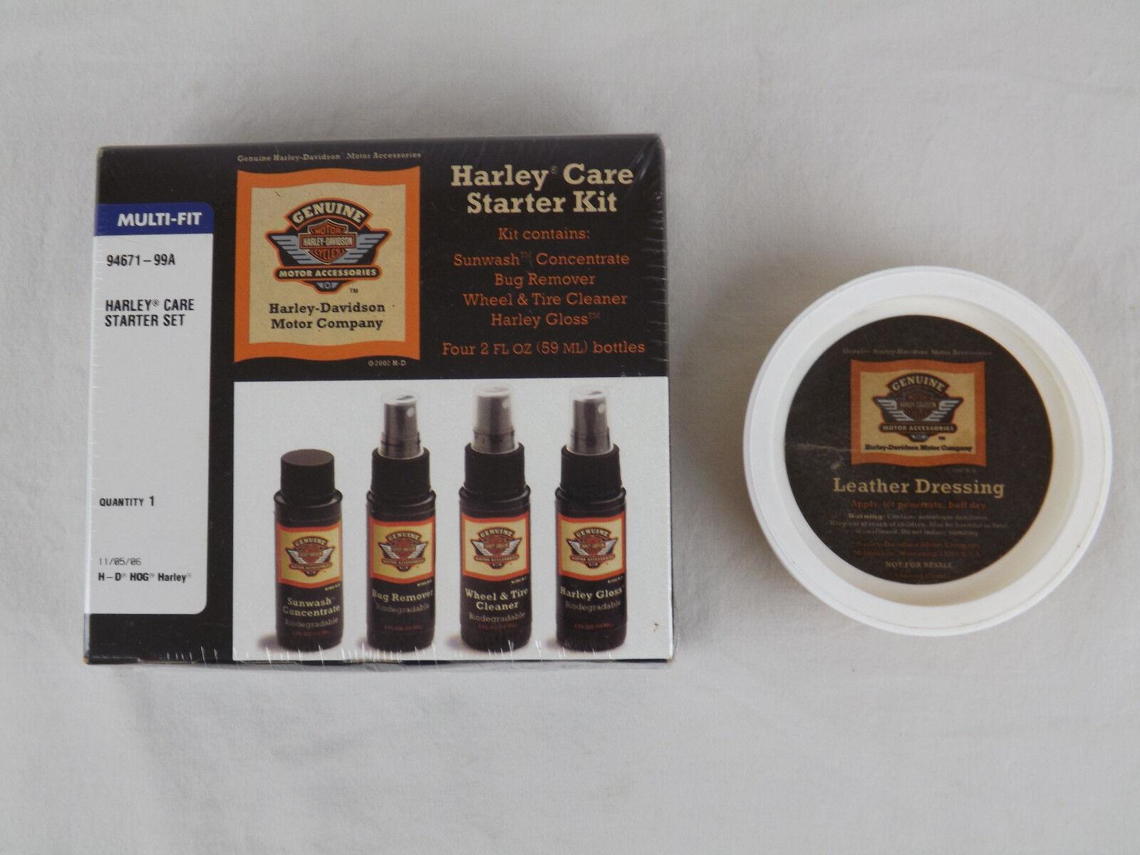 Harley davidson care starter kit 94671 99a leather for Kia motors daphne alabama