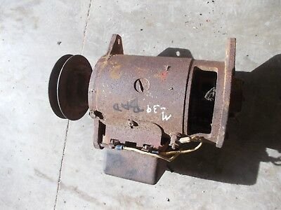 Farmall Ih H Hv Sh M Mv Sm Tractor 6v Generator -- Good Belt Drive Front Pulley