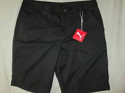 Men's PUMA Golf Tech Shorts WITH POCKETS & BELT LOOPS W32 BNWT - BLACK
