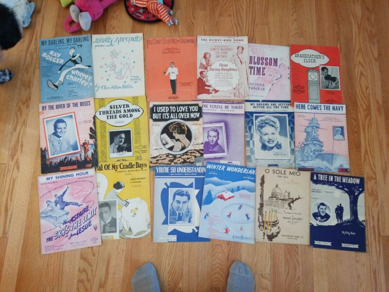Vintage Music Program Large Lot of 18