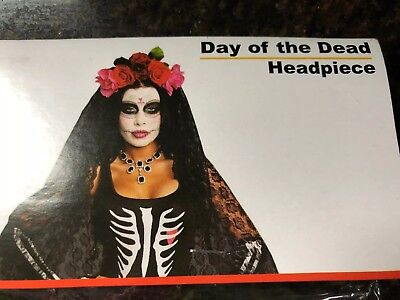 Dreamgirl 10003 Day Of The Dead Headpiece (Multicolor;One Size) - Day Of The Dead Headpiece