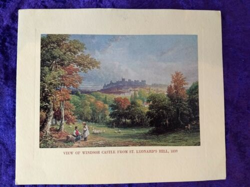 1965 Royal card from the Duke and Duchess of Westminster - Windsor castle view