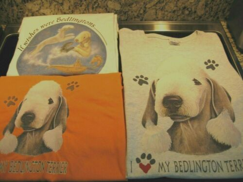 Bedlington Terrier T-Shirts (2) NEW + Night Shirt Gently Pre-Owned!  *2X*