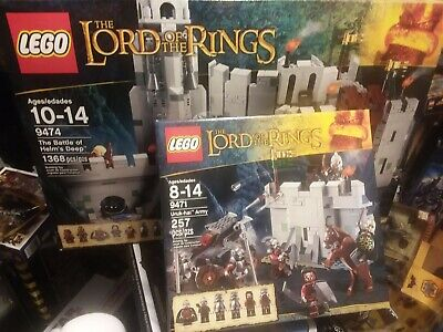 9474 and 9471 lotr LORD OF THE RINGS LOT BATTLE OF HELM'S DEEP URUK-HAI ARMY
