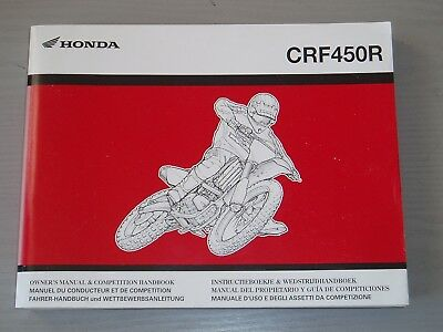 HONDA CRF450R WORKSHOP MANUAL, PART # 3RMEN612