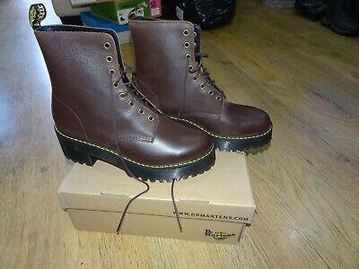Dr Martens Brown SHRIVER HI Leather Platform Boot *Size 9 UK* BNIB **LIKE JADON*