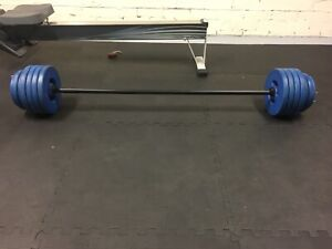 Barbell and weight plates