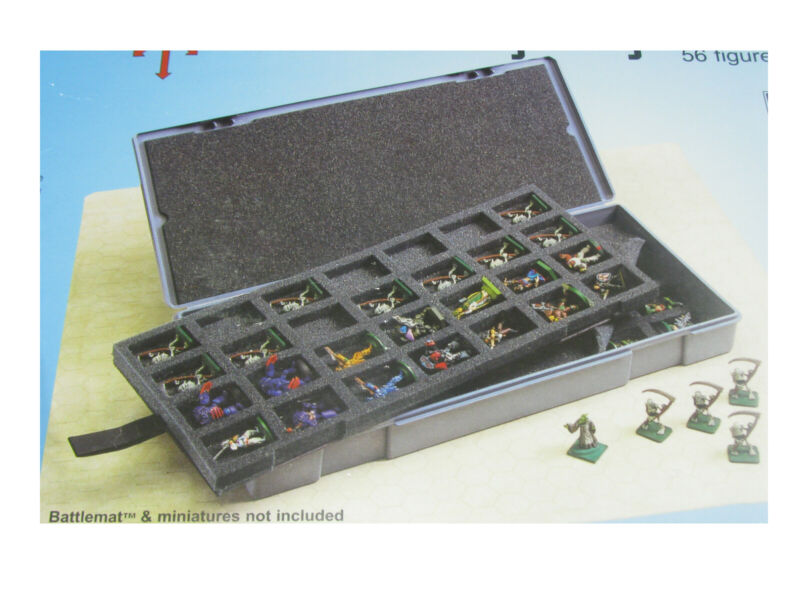 Chessex Large Figure Storage Box and Carrying Case - 56 Miniatures Capacity
