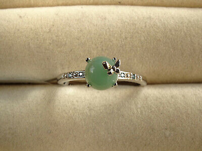 Gem-Jelly Aquaprase & Blue Diamond 925 Sterling Silver Butterfly Ring Size P-Q/8 Jelly Silver Ring