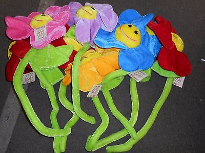 LOT OF 9 LARGE FIESTA FLOWERS ASSORTED COLORS BRAND NEW