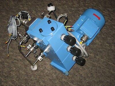 Lewa Ecc-0006-s13 Metering Diaphragm Pump W Siemens 1la7073-4ab12-z Motor 3 Ph