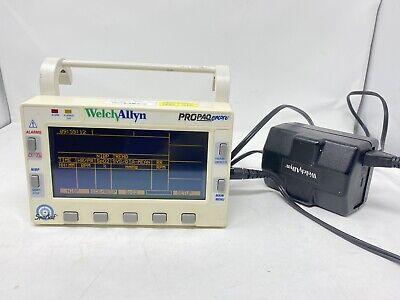 Welch Allyn Propaq Encore 202el Monitor W Power Cord - Good Battery - Airforce
