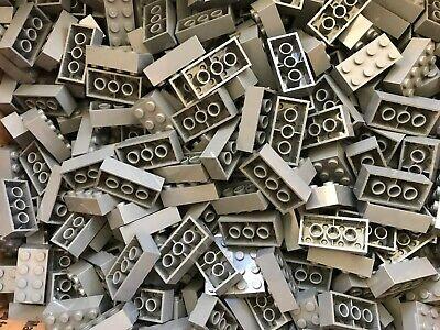 LEGO- NEW-#3001- 2 x 4 DARK BLUISH GREY BRICKS-20 BRICKS