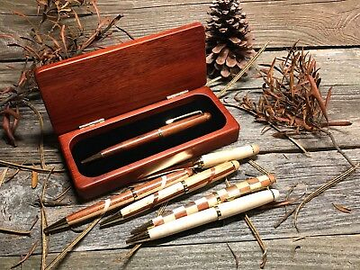 Pen Set Personalized Natural Wood Laser Engraved Wooden Rosewood Executive Gift
