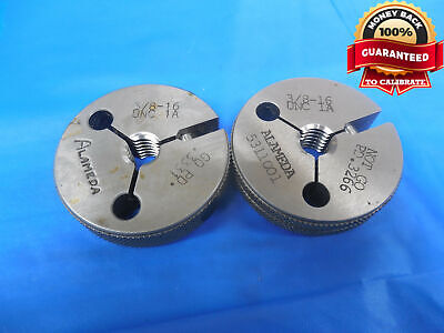 38 16 Unc 1a Thread Ring Gages .375 Go No Go Pds .3331 .3266 Quality New