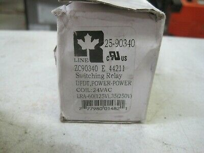 Relay Dpdt 24vac Coil Power Duty All Rline Zc90340-01 24vac Switching Relay