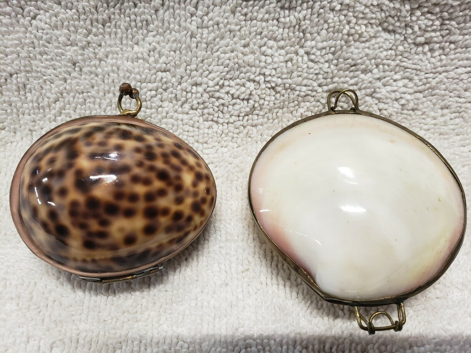 2 Antique Shell Purses With Gold Gilt Frames, Clasp And Hinges Unique Small - $24.99